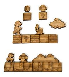 8-Bit Styled Super Mario Bros Fridge Magnet Sets