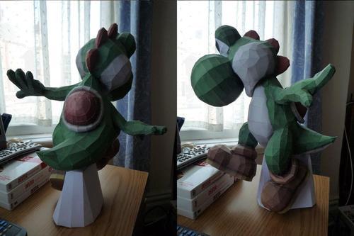 Super Mario Yoshi Paper Craft