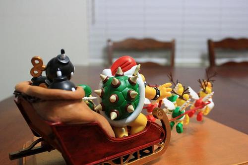 Bowser Claus Coming from Mushroom Kingdom