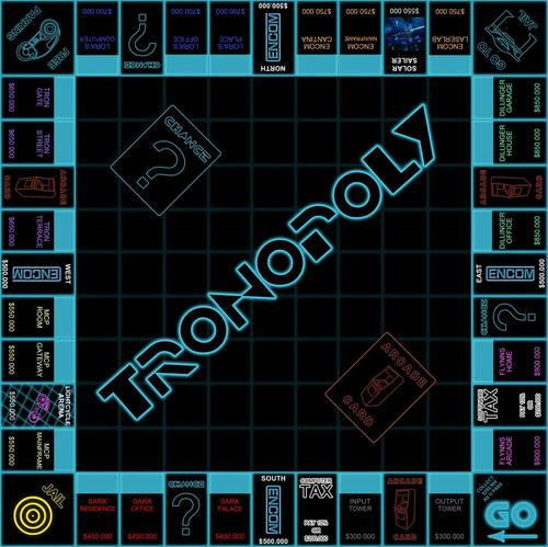 TRON Legacy Monopoly Board Game