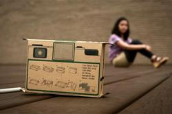 Flutter In Pinhole Paper Disposable Camera Design Concept
