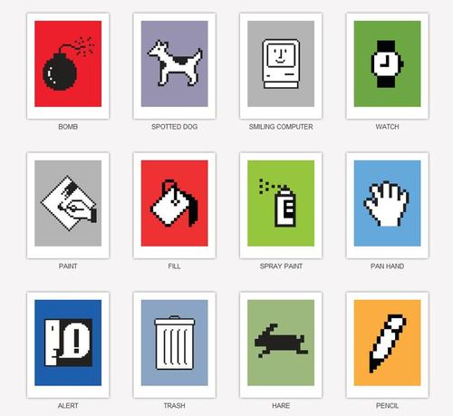 Susan Kare's Classical Macintosh Icon Limited Edition Prints