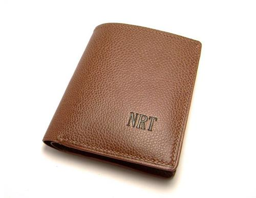 Hand Stitched Personalized Leather Wallet