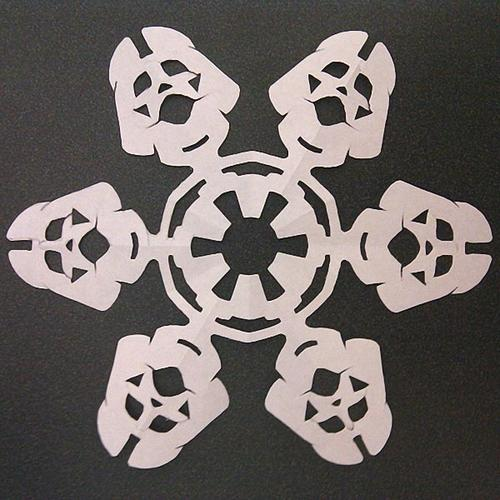 Make Your Own Star Wars Themed Paper Snowflakes