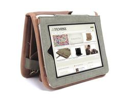 Temple Multi Functional Leather iPad Bag