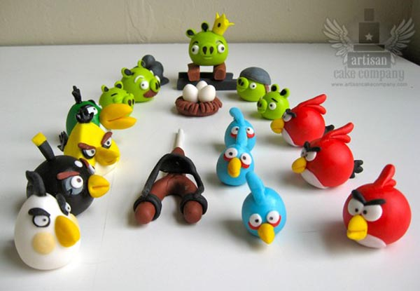 Edible Angry Birds Cake Toppers