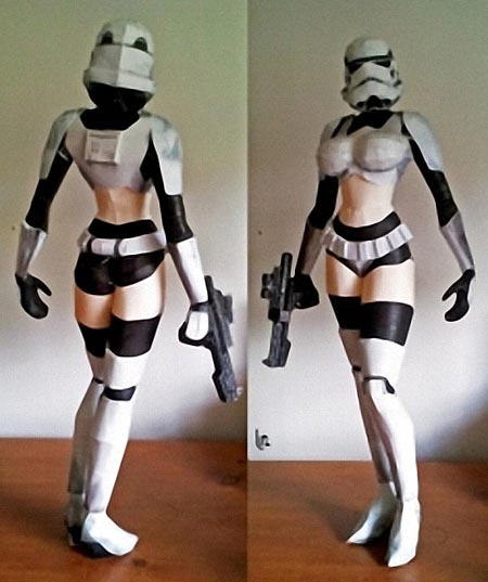 Gorgeous Female Stormtrooper Paper Craft