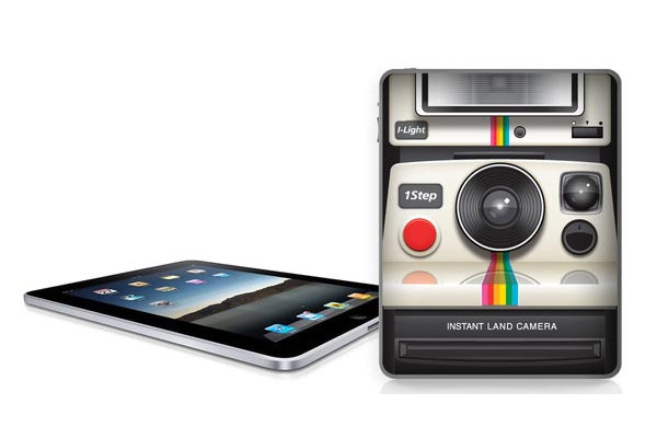 iPad Skin Inspired by Polaroid Camera