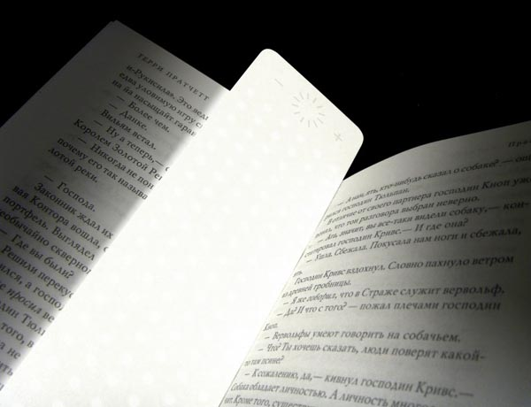 LED Book Light Doubled as Bookmark