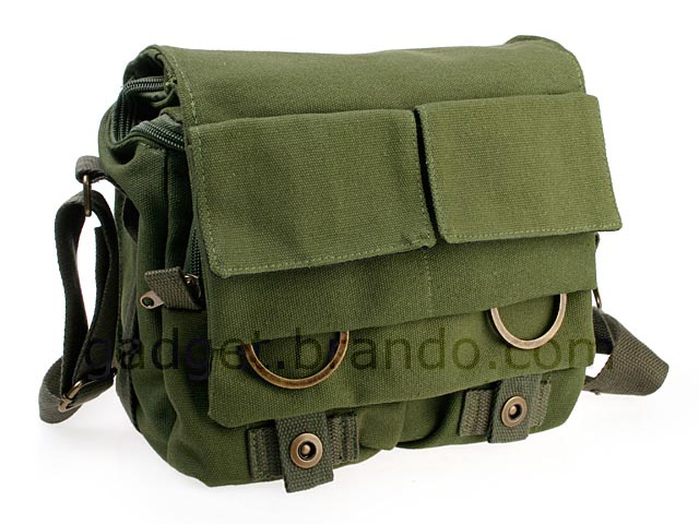 Linen DSLR Camera Messenger Bag | Gadgetsin