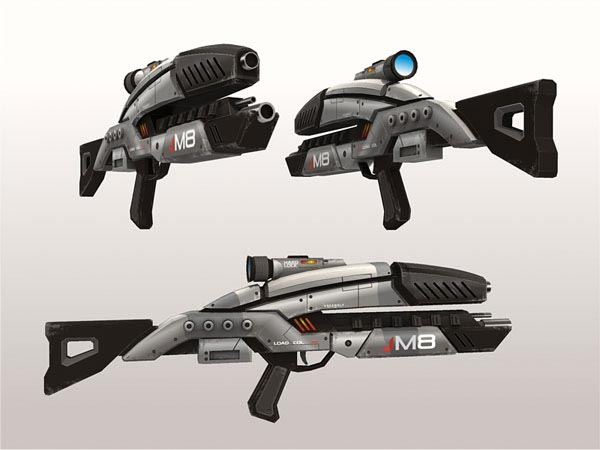 Mass Effect 2 M8 Avenger Assault Rifle Paper Craft