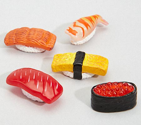 Mini Sushi Fridge Magnet Set