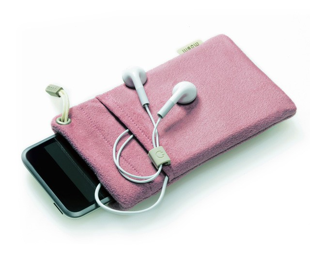 Pink Leather Iphone  Plus Case