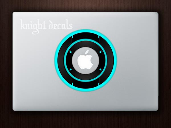 TRON Legacy Identity Disc MacBook Skin