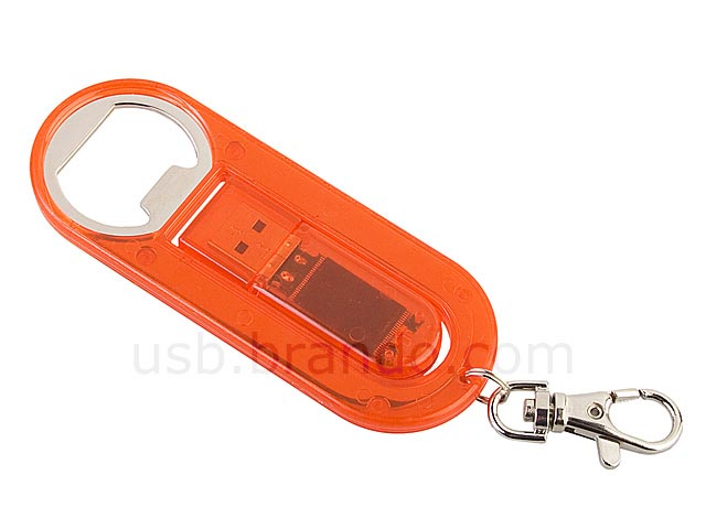 usb flash drive bottle opener keychain gadgetsin. Black Bedroom Furniture Sets. Home Design Ideas