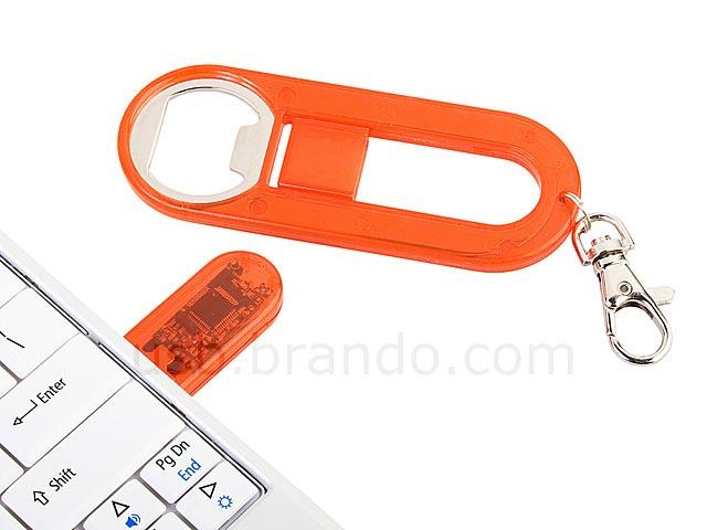 usb flash drive bottle opener keychain gadgetsin. Black Bedroom Furniture Sets. Home Design Ideas