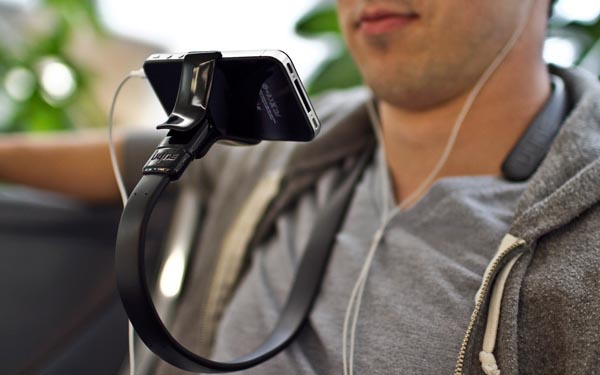 Vyne Flexible iPhone Stand Ready for Your Neck