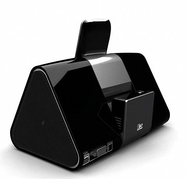 Wowwee cinemin slice dock speaker integrated portable pico for Compact projector for ipad