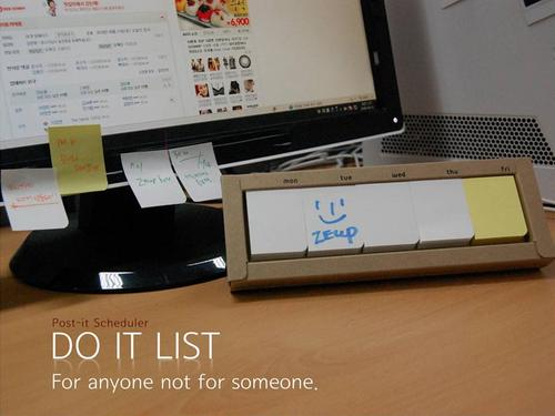 DO IT LIST Tabletop Daily Schedule