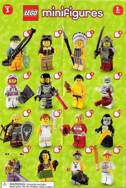 LEGO 8803 Collectible Minifigures Series 3