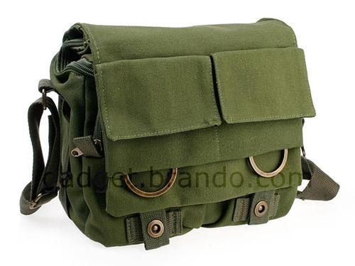 Linen DSLR Camera Messenger Bag