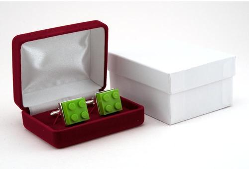 LEGO Themed Silver Cufflinks