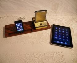 Wooden iPhone/ iPad Docking Station with Hard Drive Bay