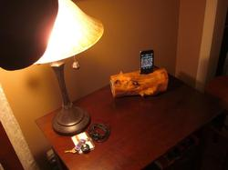 Handmade Wooden iPod Dock Speaker