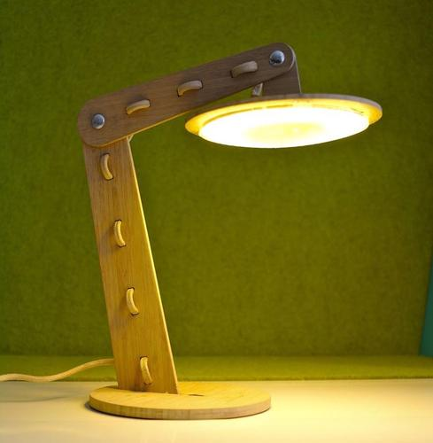 Elegant Bamboo LED Lamp