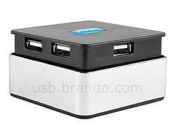 Push-Push 4-Port USB Hub with Card Reader