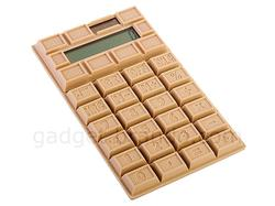 Chocolate Styled Solar Powered Calculator