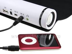 Roll-Up Mouse Pad Integrated USB Hub and Speakers