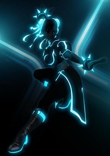 Incredible TRON Styled Street Fighter - Chun Li