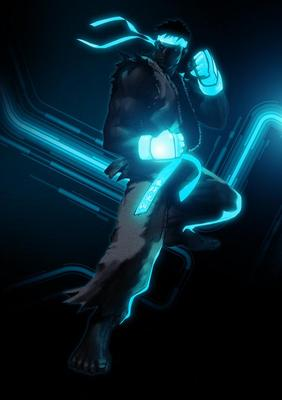 Incredible TRON Styled Street Fighter - Ryu