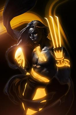 Incredible TRON Styled Street Fighter - Vega