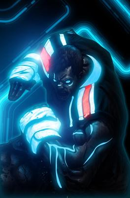 Incredible TRON Styled Street Fighter