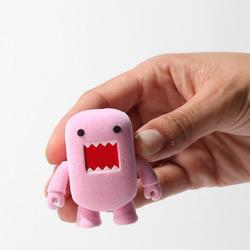 Cute Flocked Pink Domo Mini Figure