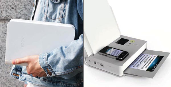 Book Shaped Portable Printer Gadgetsin