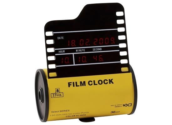 Classical Film Digital Clock