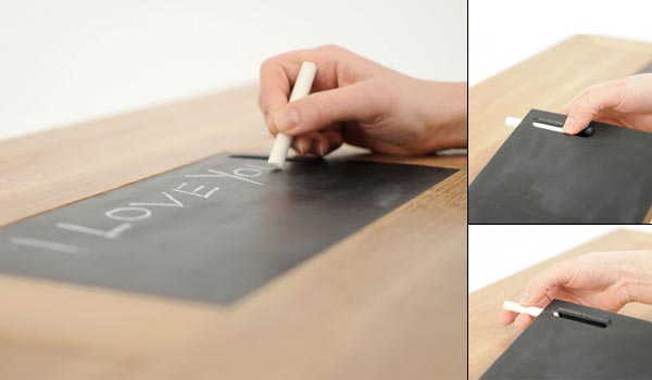 Coffee Table Meets Blackboard