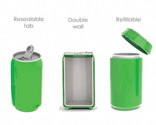 Eco-Friendly Drink Can Shaped Water Bottle