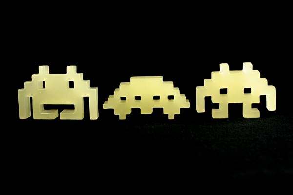 Glowing Space Invaders