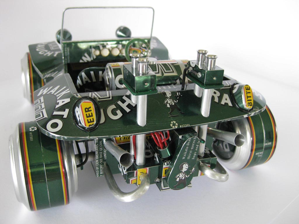 Handmade Model Cars Built With Recycled Cans Gadgetsin