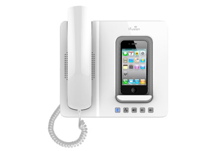 ifusion iphone docking station with bluetooth handset gadgetsin. Black Bedroom Furniture Sets. Home Design Ideas