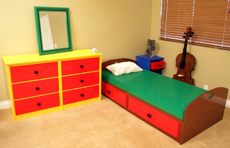 own bedroom build with lego bricks except brick artist nathan sawaya