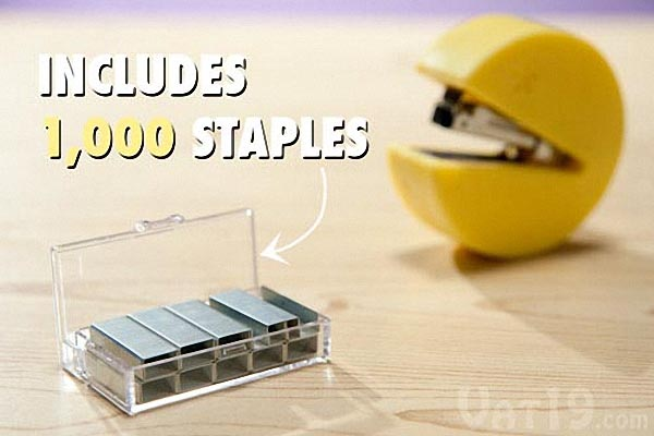 Pacman Mini Stapler Called Stap-Man