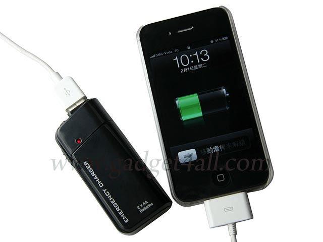 Portable Emergency Charger with LED Flashlight