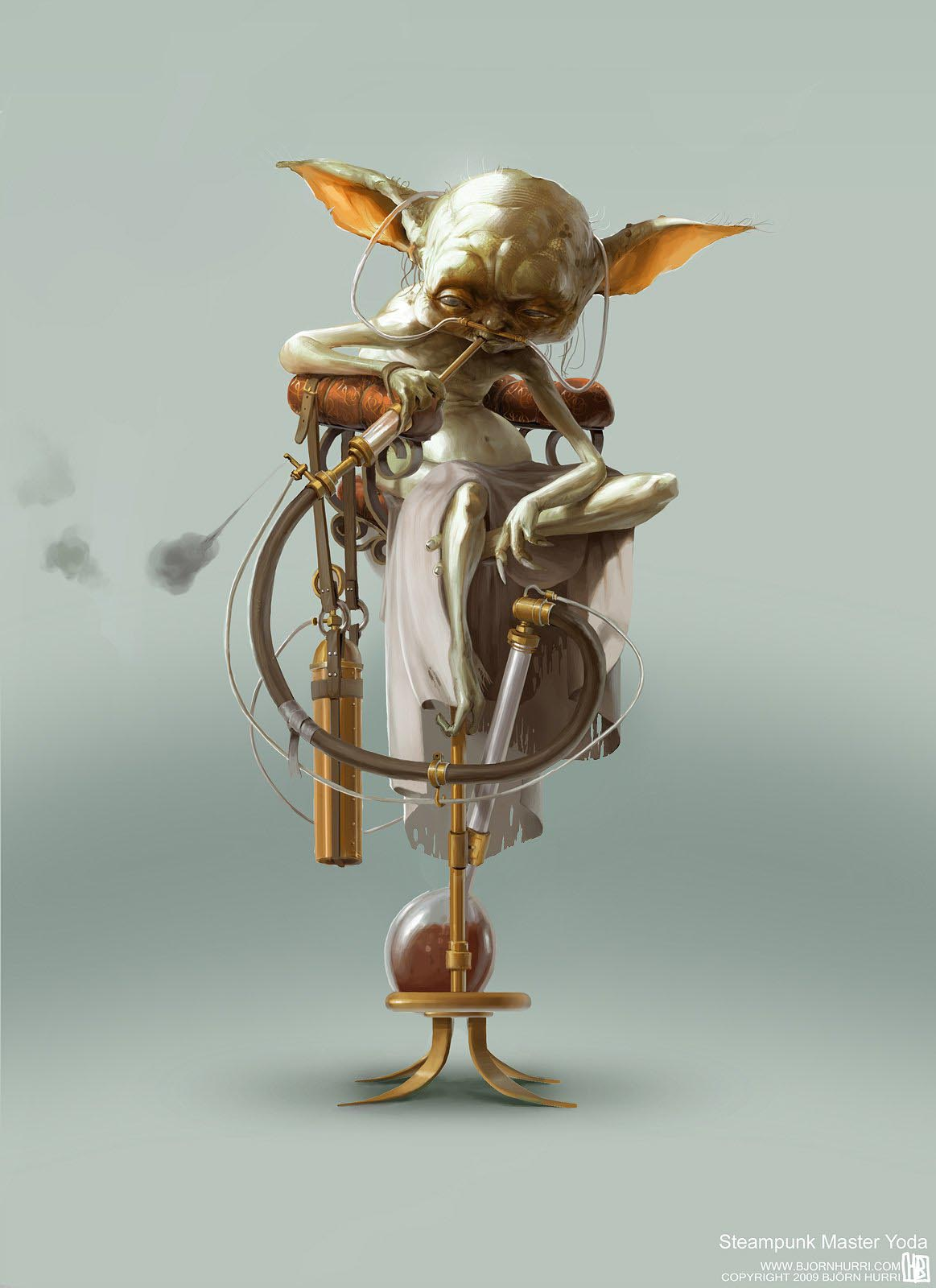 Steampunk Styled Star Wars Illustrations Gadgetsin