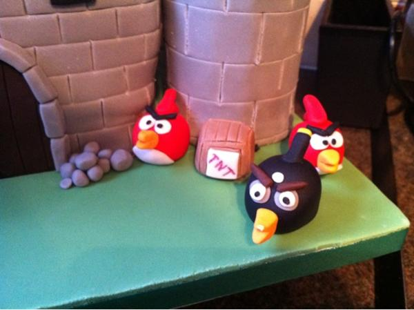 The Castle under Siege of Angry Birds Birthday Cake