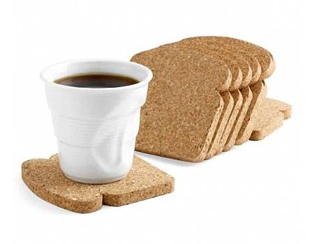 Toast Shaped Coaster Set